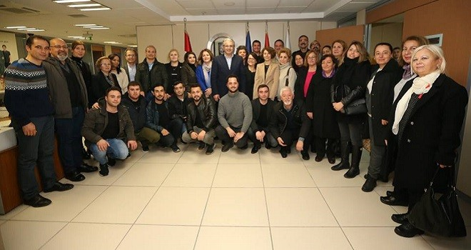 CHP Karşıyaka İlçe Yönetimi Başkan Akpınar'ı ziyaret etti