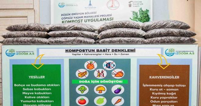 Sebze ve meyve atıkları Karşıyaka'da organik gübreye dönüşüyor