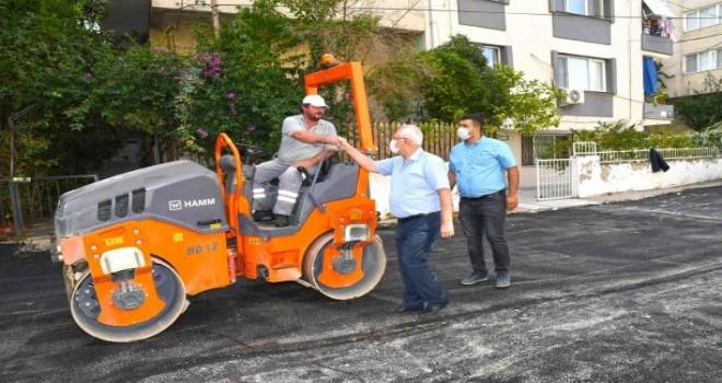 Karabağlar'ın asfalt atağı hız kesmiyor