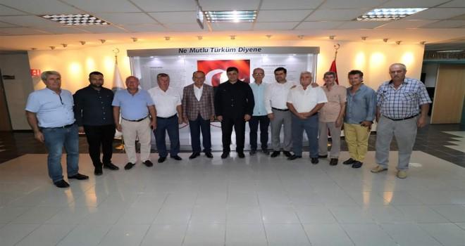 Başkan Tugay, Turgutlu Belediye Başkanı Akın'ı ziyaret etti