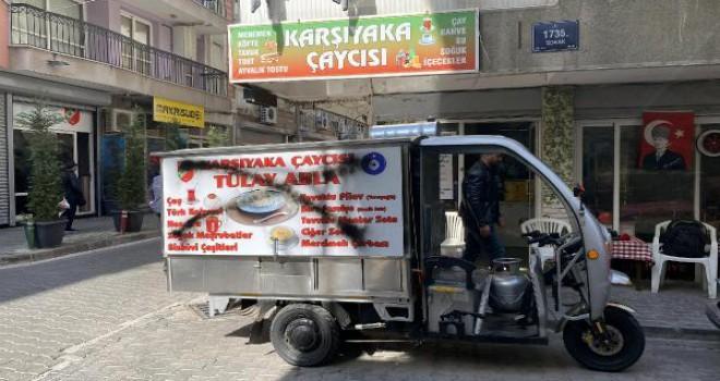 Karşıyaka'da kadın seyyar satıcıya tehdit...