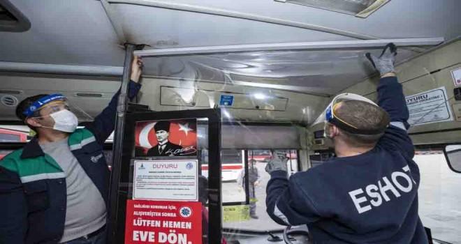 Otobüs şoförlerine kabin ve koruyucu başlık