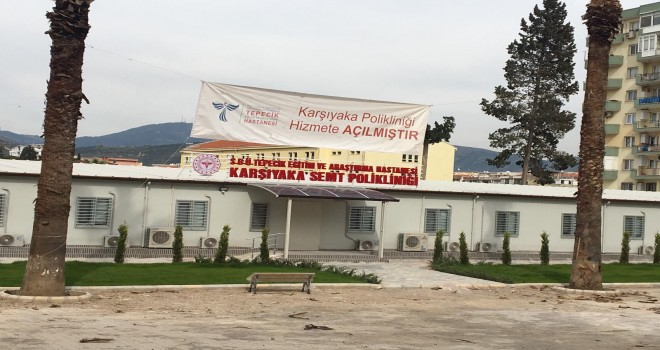 CHP İzmir Milletvekili Atila Sertel, prefabrik polikliniği eleştirdi