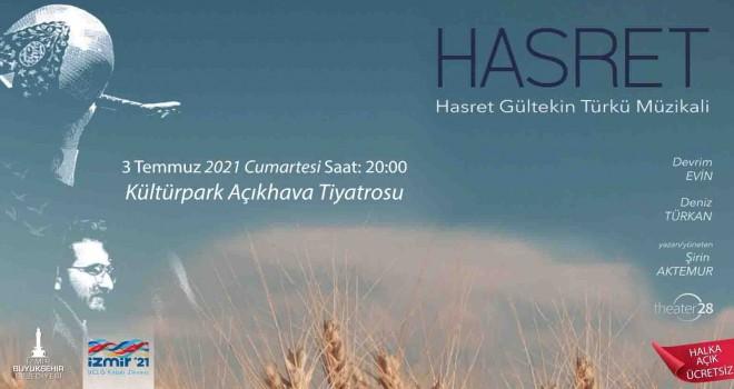 İzmir Büyükşehir Hasret Gültekin türkü müzikaline ev sahipliği yapıyor
