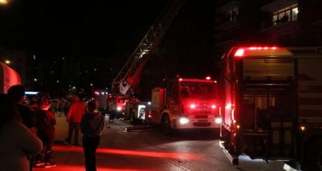 Örnekköy'de 16 katlı binada yangın