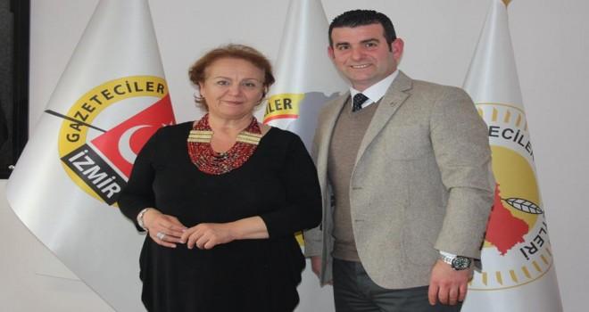 Karşıyaka Bağımsız Belediye Başkan Adayı Aşıkoğlu, İGC'yi ziyaret etti