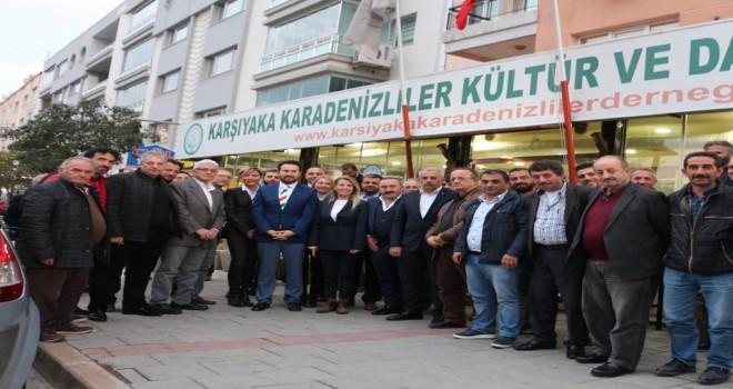 Karşıyaka Cumhur İttifakı'ndan Karadeniz Derneği'ne ziyaret