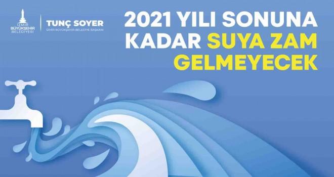 İzmir'de 2021'de suya zam yapılmayacak