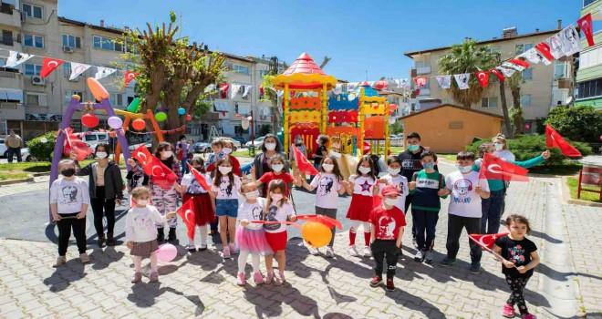 Karşıyakalı çocuklar bayramı coşkuyla kutladı