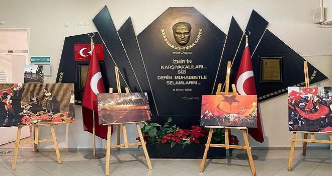 Karşıyaka Halk Eğitim  15 Temmuz anısına sergi açtı