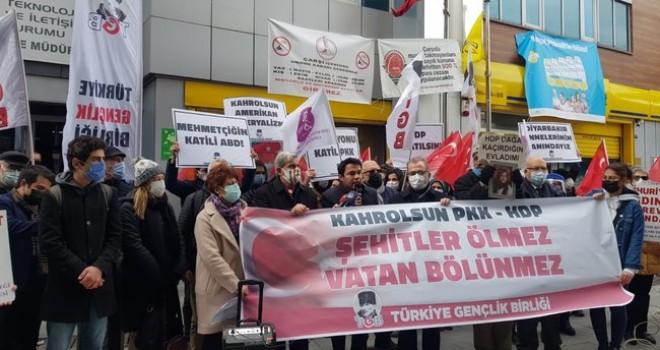 Terör örgütü PKK Karşıyaka'da protesto edildi