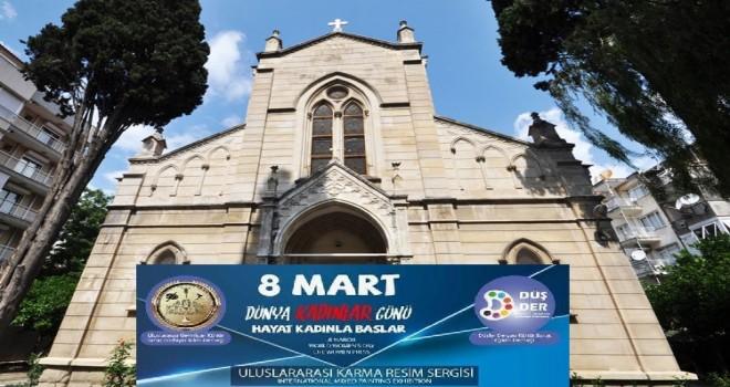 St.Helen Kilisesi'nde uluslararası karma resim ve el sanatları sergisi