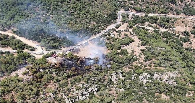 Yamanlar'da çıkan yangın kontrol altına alındı