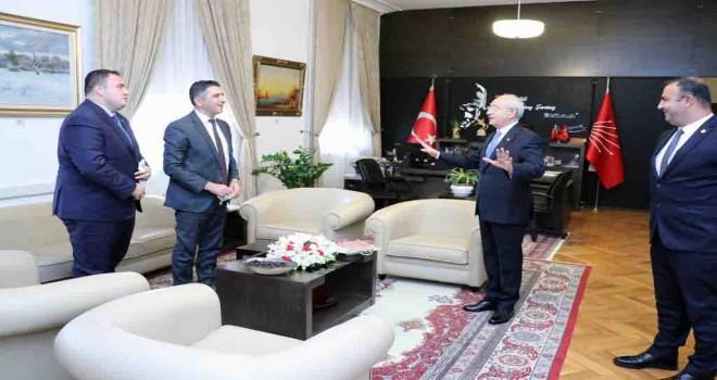 Başkan Mustafa Kayalar Kılıçdaroğlu ile görüştü