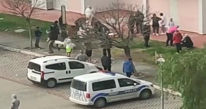 Mavişehir'de 10.kattan düştü...
