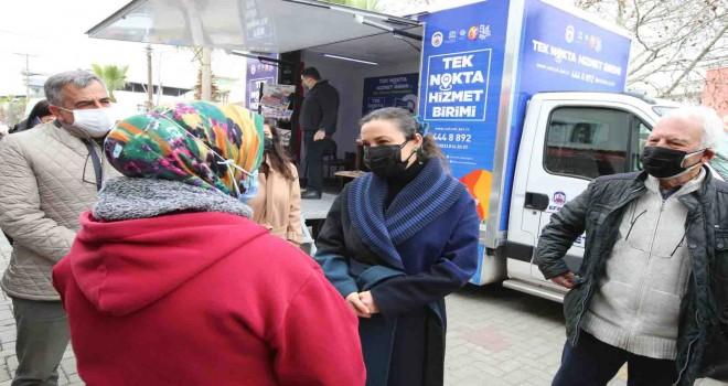 Efes Selçuk Belediyesi tek nokta hizmet aracı yola çıktı