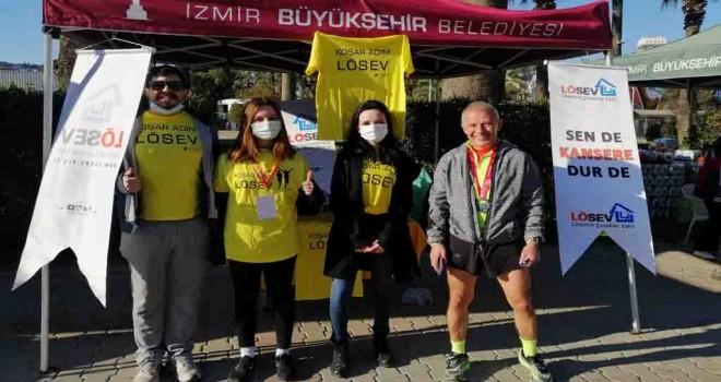 Koşar Adım Lösev, Maraton İzmir'de eğitim için koştu