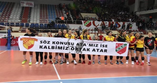 Karşıyaka-Göztepe derbisinde salon boşaltıldı...
