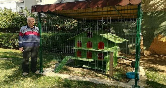 Osman Bey Parkı'na Kedi Barınma Evi yapıldı