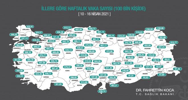İzmir'de haftalık vaka sayısı yine arttı