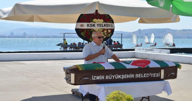 Karşıyakalı eski milli yelkenci son yolculuğuna uğurlandı