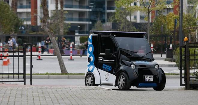 Elektrikli mini araçlar Karşıyaka'da kullanıma sunuldu