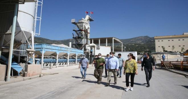Karşıyaka'nın asfalt üretim tesisi yeniden faaliyete geçecek
