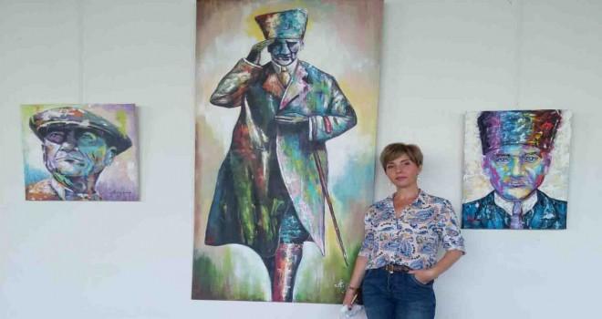 Boşnak kızından harika Atatürk resimleri