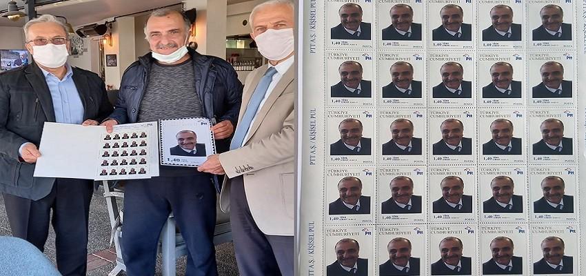 Yılmaz Durmaz'a pul sürprizi...