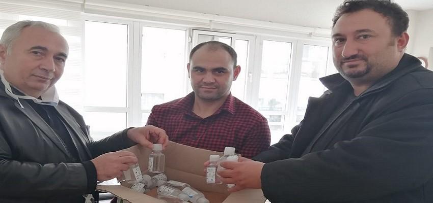Karşıyaka Halk Eğitim Müdürlüğü'ne dezenfektan bağışladı...