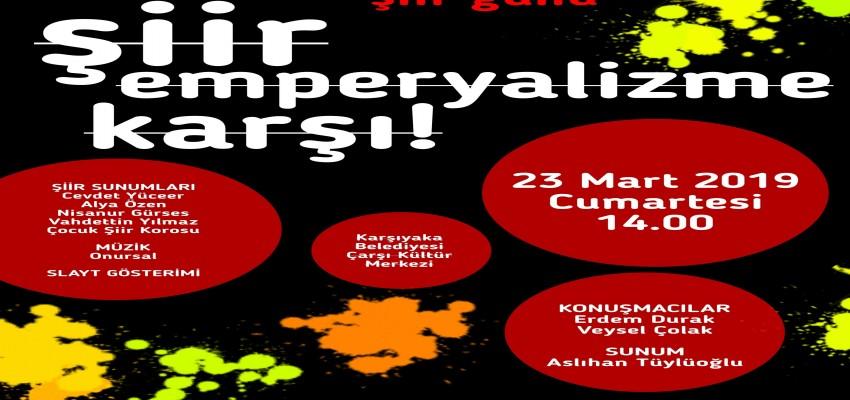 Karşıyaka'da Dünya Şiir Günü kutlama etkinliği