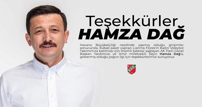 Karşıyaka'dan Hamza Dağ'a teşekkür
