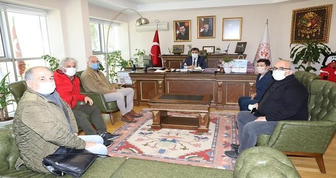 Karşıyaka Amatör Futbol Kulüpleri İl Spor Müdürünü ziyaret etti