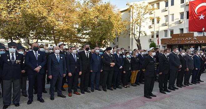 Karşıyaka Atatürk'ü andı...