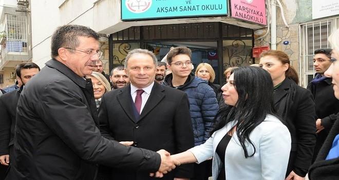 Zeybekci Karşıyaka Halk Eğitim Merkezi'ni ziyaret etti
