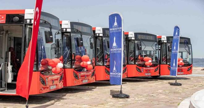 Yeni otobüsler ağırlıklı olarak Karşıyaka ve Bornova'da hizmet verecek