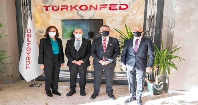 Başkan Soyer TÜRKONFED yöneticileriyle bir araya geldi