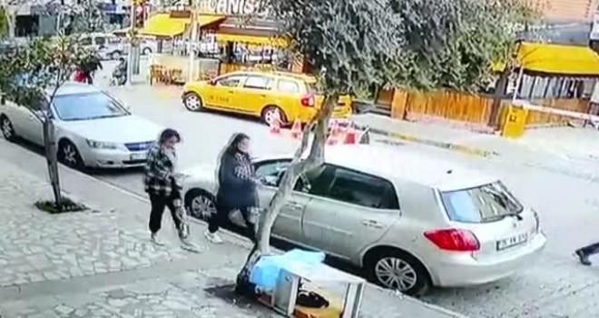Karşıyaka'da taksi kaçırdı sonra yayaya çarptı