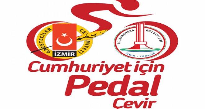 Gazeteciler, Karşıyaka'da ''Cumhuriyet'e Pedal'' çevirecek