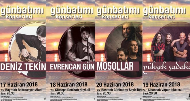 İzmirlilere bayram hediyesi ''Günbatımı Konserleri''