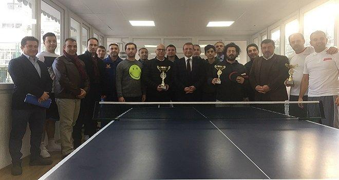 Karşıyaka Kurumlar Masa Tenisi Turnuvası sonuçlandı