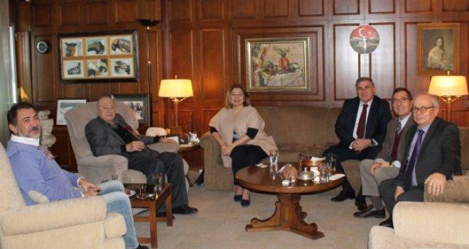 KSK Başkanı Büyükkarcı, Selçuk Yaşar'ı ziyaret etti